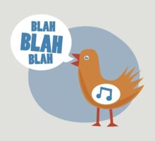 blah blah blah bird by Matthew Broughton