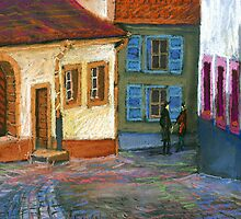 Germany Baden-Baden Old Street by Yuriy Shevchuk