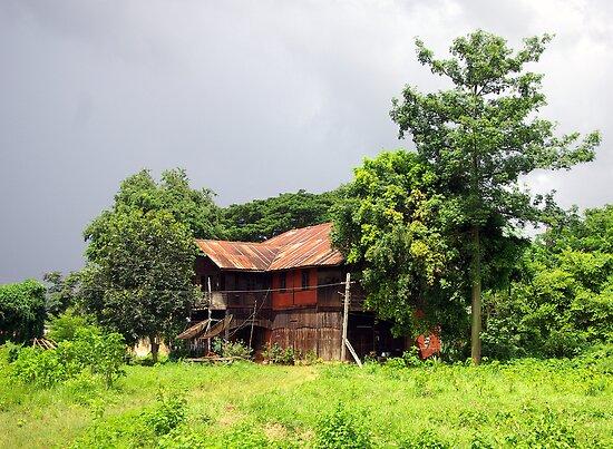 George Orwell's home in Katha, Burma by John Mitchell