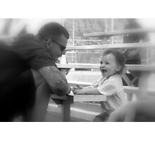 My Daddy Is So Funny Photographic Print