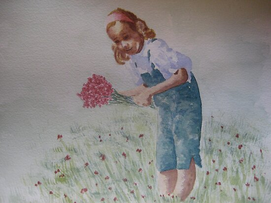 Le champ d'oeillets - The carnations field -  by Corinne Pouzet