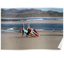 Beach Yoga Poster
