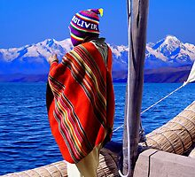 REED BOAT - BOLIVIA by Michael Sheridan