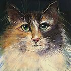 Long Haired Cat by arline wagner