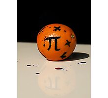 Maths Orange Photographic Print