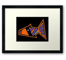 Modfish Framed Print