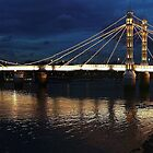 Albert Bridge London at Twilight by Colin  Williams Photography