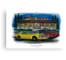 Muscle Car Diner Canvas Print