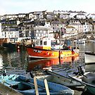 Mevagissey Harbour by Jan Carlton