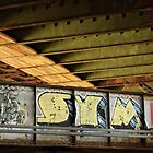 Graffiti Under the BU Bridge by Jonathan Eggers