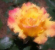 Oil Pastel Rose by suzannem73