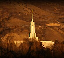 Mount Timpanogos Temple from the West by Ryan Houston