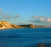 Warbarrow Bay - Panoramic by coastalpix