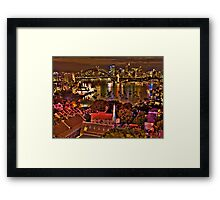 """*Fantasia"""" - Uncut- Sydney Harbour And Skyline - Moods Of A City - THe HDR Experience Framed Print"""