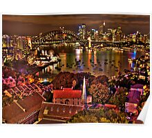 """*Fantasia"""" - Uncut- Sydney Harbour And Skyline - Moods Of A City - THe HDR Experience Poster"""