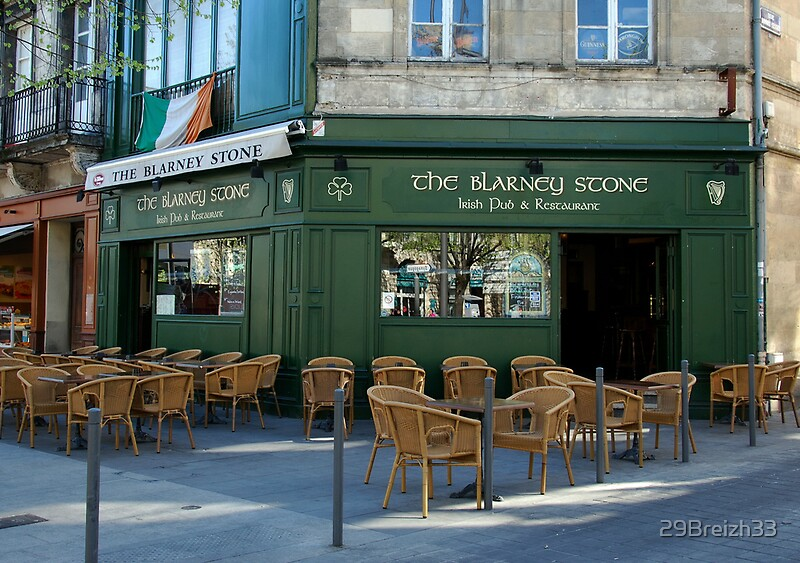the blarney stone pub by 29breizh33 redbubble. Black Bedroom Furniture Sets. Home Design Ideas