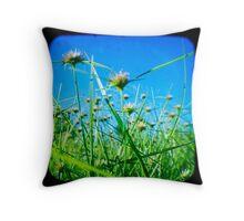 Where the Weeds Go Wild  Throw Pillow