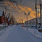 Sidewalk in Oulu by sautio