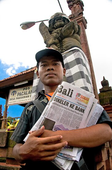 Paper Boy - Bali, Indonesia by Stephen Permezel