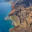 The Na Pali Coast Cliffs, Kauai, Hawaii by Philip James Filia