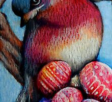 Easter Egg Robin, a by artistsuetaylor