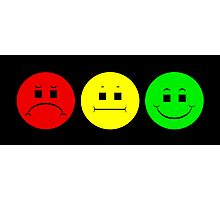 Moody  Stoplight Trio Photographic Print