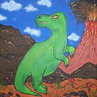 painting of dino land by allycpr29