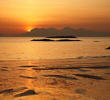 Sunset over Rhum. by John Cameron