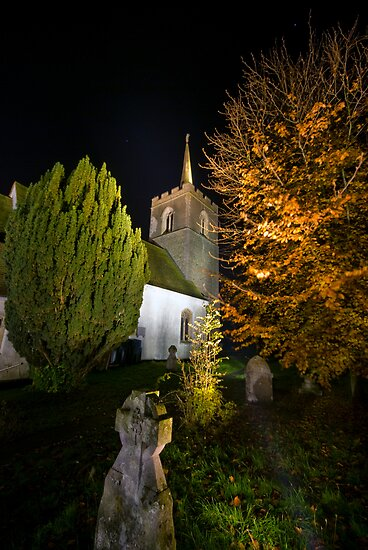 St James' Church at Night by Nigel Bangert