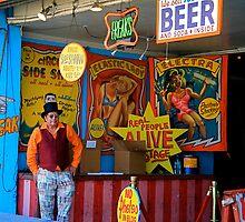 Freak Show, Coney Island, Brooklyn, NY by RonnieGinnever