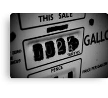 Price Per Gallon Canvas Print