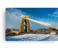 Clifton Suspension Bridge in WInter Canvas Print