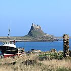 Castle, Holy Island by Mark Baldwyn