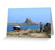 Castle, Holy Island Greeting Card