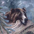 Bear at Rest by paulaveschore