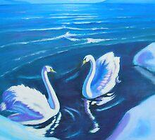 Artic Swans meeting IIII by Mai Kari  Hartvaag Zimbleman