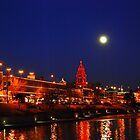 Full Moon over the Country Club Plaza in Kansas City. by Catherine Sherman