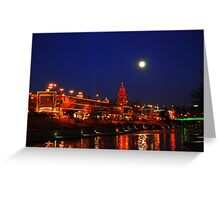 Full Moon over the Country Club Plaza in Kansas City. Greeting Card