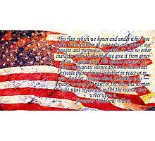 Woodrow Wilson Quote on Flag Photographic Print