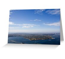 Aerial view of Perth area Greeting Card
