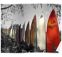 Surfboard Fence Poster