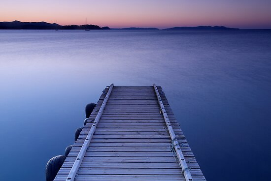 Dawn on the jetty by Patrick Morand