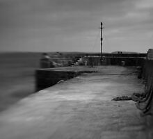 Charlestown Sea Wall, Near St Austell, Cornwall by Matthew Walters