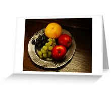 Pewter and Fruit Greeting Card