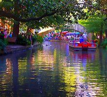 San Antonio RiverWalk at Dusk by kellimays