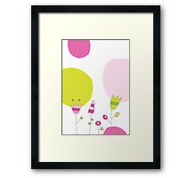 Spring card with flowers Framed Print