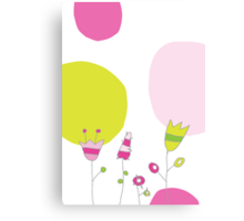 Spring card with flowers Canvas Print