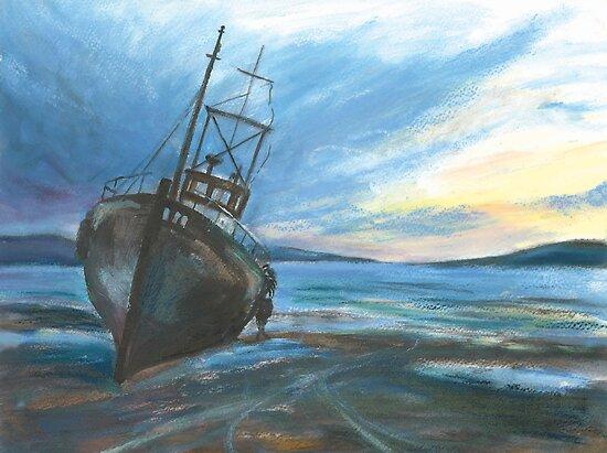 High & dry on an ebbing winter's tide by artyfifi