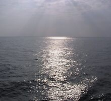 Rays of light shimering over the waters of the Arabian Sea in the Lakshadweep Islands by ashishagarwal74