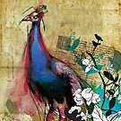 Large King Peacock Canvas by Narelle Craven